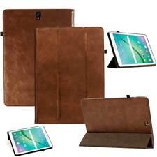 COVER in pelle Samsung Galaxy Tab s3 Tablet Custodia Protettiva Case Borsa Marrone