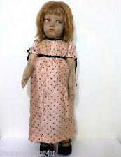"Vintage LENCI doll 1920's 22"" Girl"