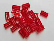 Lego Trans Red Tile Mod 1x2, Part 30244 2412b, Element 4190187, Qty:25 - New