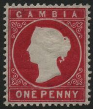 GAMBIA-1887 1d Crimson Sg 23 LIGHTLY MOUNTED MINT V39140