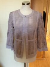 Just White Jacket Size 12 BNWT Sand Broderie Anglaise RRP £133 Now £59