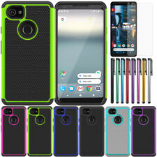 For Google Pixel 2/2 XL Wave Point Shockproof Case Hybrid Rubber Armor Cover