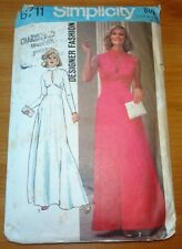 Vintage 70s Simplicity Sewing Pattern 6711 Maxi Dress Size 14 Bust 92cm