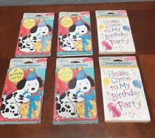 NEW Carlton Cards Made In USA Birthday Party Invitations Mixed Lot - 60 Cards