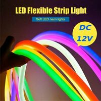 5M DC 12V Flexi LED Strip Neon Rope Light Tubes Party Bar Sign Decor Waterproof