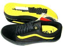 Vans Mens Old Skool Pro BMX Larry Edgar Shoes Black Yellow Waffle Size 10.5 NWT