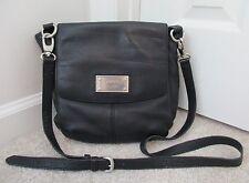 DKNY Donna Karan Soft Black Pebbled Leather Handbag Crossbody