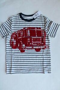 baby GAP Boys' Size 5 Fire Truck Pattern Graphic Short Sleeve T-Shirt