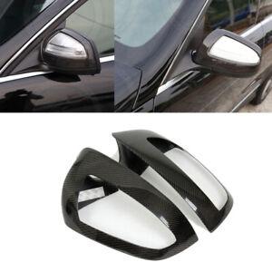 Carbon Fiber Side Mirror Cover Frames Fit Mercedes Benz W204 C Class C63 AMG