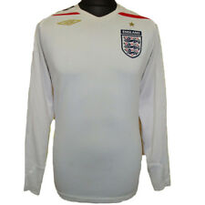 England Womens Football Shirt White Umbro Home Long Sleeved Jersey 2007-09  UK 12 4801f4397
