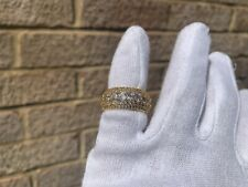 Iced 18K Gold Plated Lab Diamond Round Cut Pinky Ring Size 7