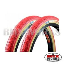 "Panaracer HP406 Red 20"" X 1.75"" Freestyle BMX Tyres - Sold In Pairs"