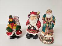 "Santas,  with Presents Figurine Christmas Decoration 9"""