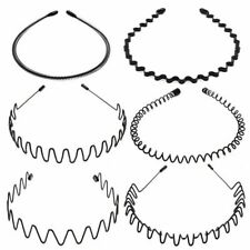 6x Metal Sports Hairband Headband Wave Style Hair band for Men Women Perfect USA