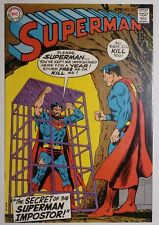 """SUPERMAN #225 (DC 1970) VF/NM """"The Secret of the Superman Imposter!"""" HIGH GRADE!"""