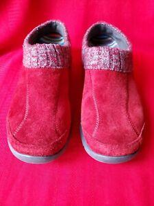 Dansko Womens 38 Red Suede Slip On shoe Great condition