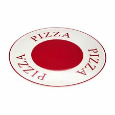 Hollywood Pizza Plate, Red/Cream, Stoneware