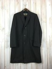 Vintage Aquascutum Coat Men's Brown Overcoat Wool Jacket MADE IN ENGLAND M / L