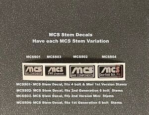 MCS Stem Decals, sale is for 1 decal - Choice of 4 Variations, Chrome on Black