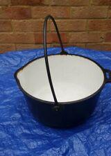 Antique A KENRICK &SON 5 QUART Cast iron gypsy Cooking/Fireplace pot .