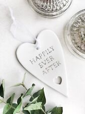Ceramic hanging quote plaque shabby chic home accessory, wedding gift
