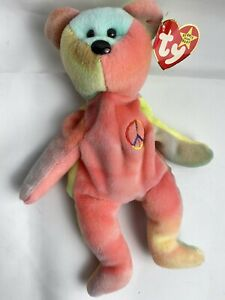 Super Rare 1996 Peace 4053 Beanie Baby With 6 Rare Errors. Tag And Tush Tag.