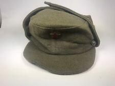 Vintage Cold War  Military Green Wool  Yugoslavian Army 1976 Cap