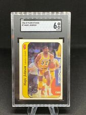 1986-87 Fleer, Magic Johnson #7 Excellent/Near Mint SGC 6 Sticker