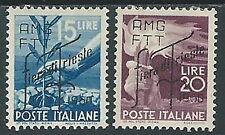 1950 TRIESTE A FIERA DI TRIESTE 2 VALORI MH * - P19-2
