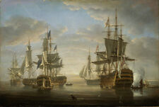 "Handmade Oil Painting repro The Battle of Trafalgar 24""x36"""