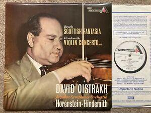 SDD 465 Bruch Scottish Fantasia & Hindemith Violin Concerto David Oistrakh..NM
