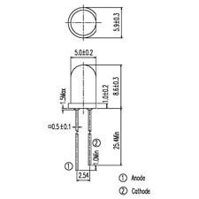 Everlight IR333 IR LED Emitter 940nm 20deg 5mm Radial (Pack of 10)