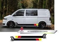 VW Side Stripes Transporter Van T4 T5 T6 Decals Volkswagen Any Colour Custom