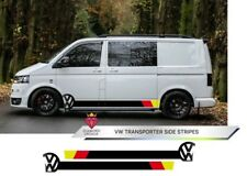 VW Side Stripes Transporter Van T4 T5 T6 Decals Volkswagen Any Colour Custom