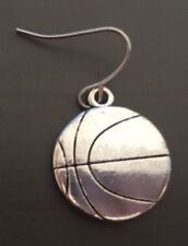 Men's Earring Silver Plated Sport Sporty Basketball Baller Hoops NBA NBL Jordan