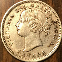 1900 CANADA SILVER 10 CENTS - Excellent example!