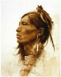 Howard Terpning Kiowa Giclee on Canvas