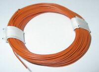 (1m = 17,9 CT) Fil de Décodeur Très Souple 0,04 MM ² 10m Anneau Orange > Neuf