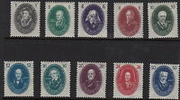 EAST GERMANY(DDR): 1950 Academy of Sciences  set SG E20-29  mint