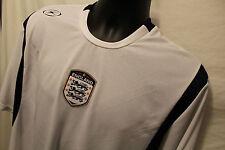 England Logo Soccer Shirt White Crewneck Coaching Sz XL S/S XARA