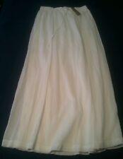 J Crew Gauze womens maxiskirt #A7805 $90 White small S below knee skirt