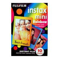 Fuji INSTAX mini / Polaroid 300  RAINBOW Instant Film - Free UK Delivery