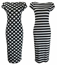 Unbranded Round Neck Casual Striped Dresses for Women