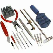 16pcs 16 Piece Deluxe Watch Repair Tool Kit wrist strap adjust pin tool #102178