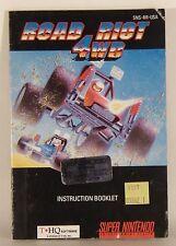 Road Riot 4WD Super Nintendo SNES Instruction Book