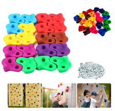 20pcs Rock Climbing Holds Wall Stones In/Outdoor Playground for Kid w/40 Nuts Us
