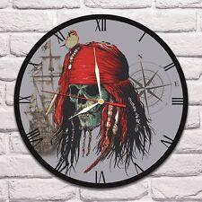 Jack Sparrow Color design vinyl record wall clock home art shop office move 1