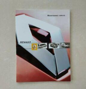 💯ORIGINAL New RENAULT SERVICE BOOK ALL MODELS MEGANE CLIO KANGOO MASTER TRAFIC