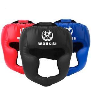 Kick Boxing Helmet Men Women Training Face Headgear Mma Protector Head Guard Art