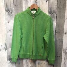 St John Sport Zip Up Mock Neck Cardigan Sweater Santana Knit Jacket P (0-2)